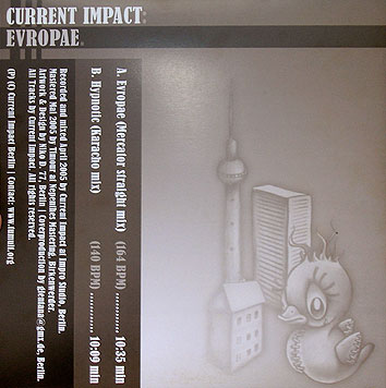 CURRENT IMPACT, Evropae, Viny, Cover, Back